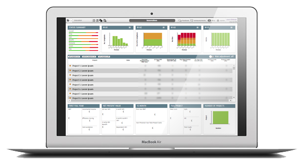 Smart PPM Software - Prioritization - Portfolio Dashboard for Project and program leaders
