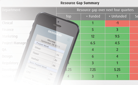 Smart PPM Software - Resource Management - Project resource estimation and gap summary example