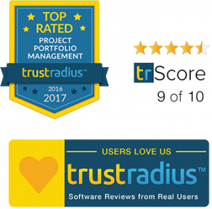 Project Portfolio Management Software - About us - Trustradius Best PPM Software Logo 2017 & 2016