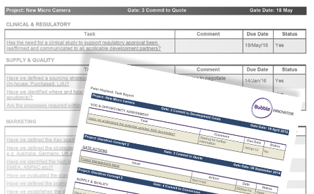 Personal Task Reporting Report illustration - med tech & medical device development projects - ppm-software