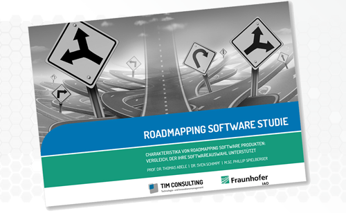 Cover image - best technology / product roadmap software - Fraunhofer IAO & TIM consulting report 2018 - Roadmapping Software Study
