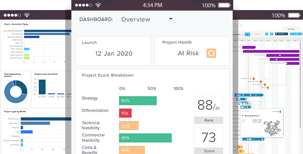 Portfolio Dashboards image - Bubble PPM software for managing remote working teams