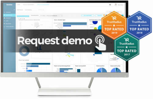 Demo request image - bubble project portfolio management software