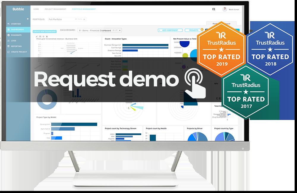 Demo request image - bubble project portfolio management software